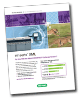 XML product sheet